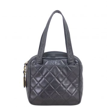 Chanel Vintage Quilted Tote Front
