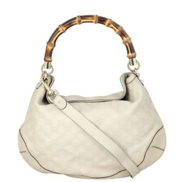 Gucci Guccissima Peggy Bamboo Hobo Front