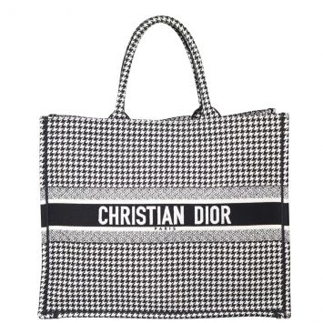Dior Houndstooth Book Tote Front