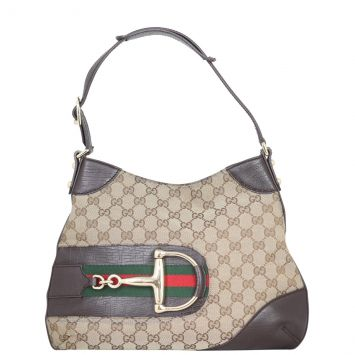 Gucci GG Canvas Hasler Hobo Front