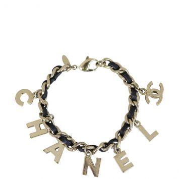 Chanel Logo Charm Bracelet Full
