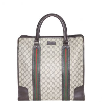 Gucci GG Supreme Web Large Shopping Tote Front