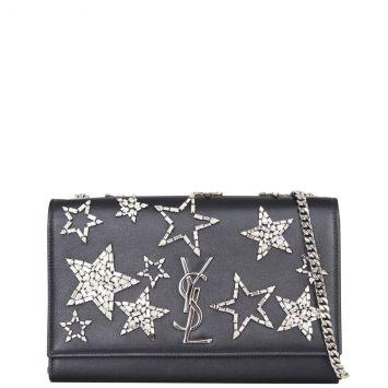 Saint Laurent Crystal Star Kate Chain Bag Medium Front