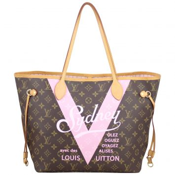 Louis Vuitton Neverfull MM Cities Limited Edition Front