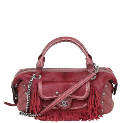 Chanel Pony Hair and Leather Paris-Dallas Bowling Fringe Bag Front