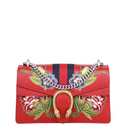 Gucci Dionysus Embroidered Shoulder Bag Small Front