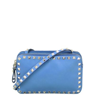 Valentino Rockstud Dual Pouch Crossbody Front